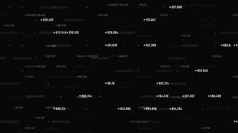 Abstract trading screen with data moving upwards. Futuristic background with Animation