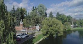 Aerial View Orthodox Monastery in Sergiev Posad. Russia Footage