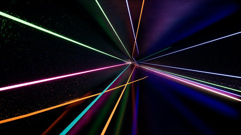 Abstract futuristic tunnel with neon light Footage