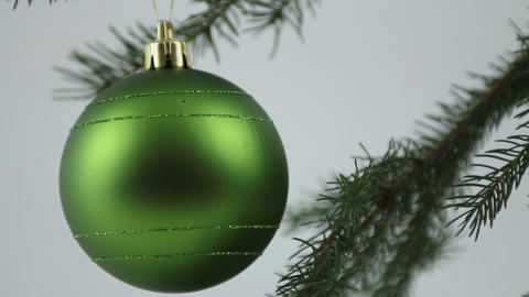 Green Christmas bulb Stock Video Footage