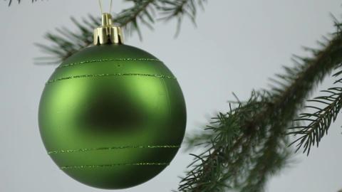 Green Christmas bulb Stock Video Footage