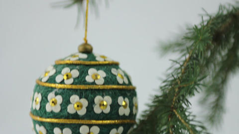 Hand crafted Christmas bulb Stock Video Footage