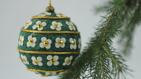 Hand crafted Christmas bulb Footage