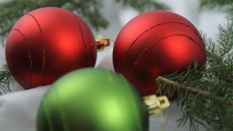 Christmas bulbs and cookies Footage