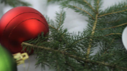 Christmas bulbs and cookies Stock Video Footage