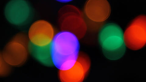 Out of focus Christmas lights Stock Video Footage