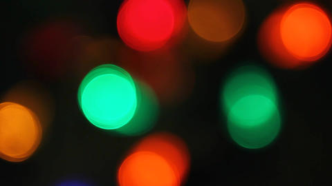 Lights On Christmas Tree stock footage