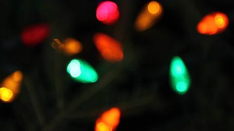 Lights on Christmas tree Stock Video Footage
