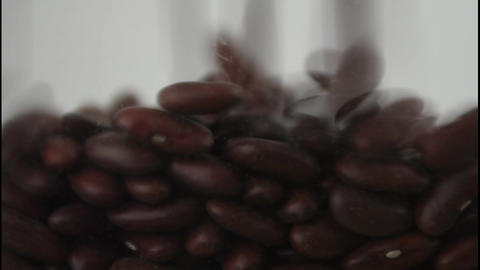 Kidney beans falling Footage