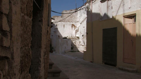 Narrow street in Italian village Stock Video Footage