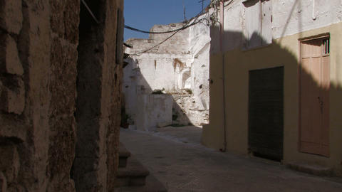Narrow Street In Italian Village stock footage