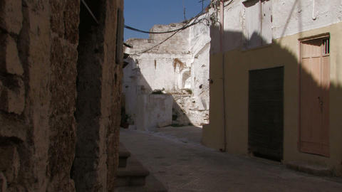 Narrow street in Italian village Stock Video Footage