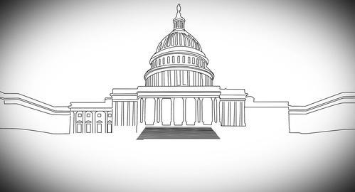4 K Capitolium handdraw design 2 Animation