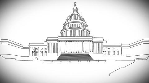 Capitolium handdraw design 2 Animation