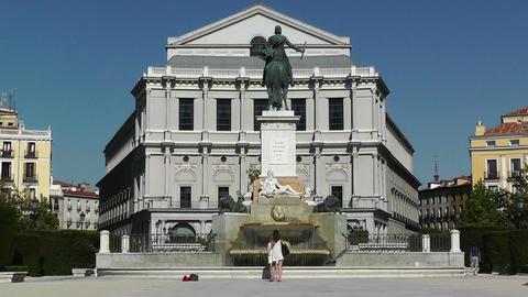 Madrid Plaza De Oriente 02 Stock Video Footage