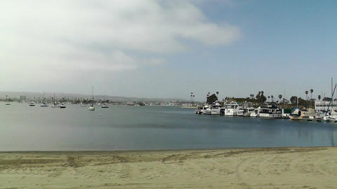 San Diego Mission Bay 01 pan left Footage