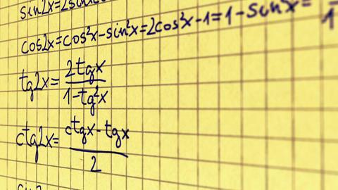 Science Mathematics 10 Stock Video Footage