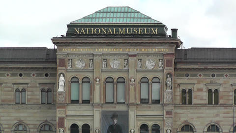 Stockholm Downtown Swedish National Museum 02 Stock Video Footage