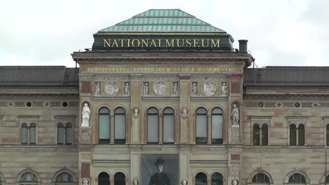 Stockholm Downtown Swedish National Museum 02 Footage