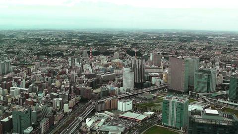 Yokohama Japan Aerial 13 Footage