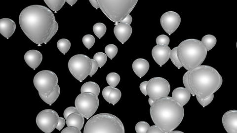red white balloon Stock Video Footage
