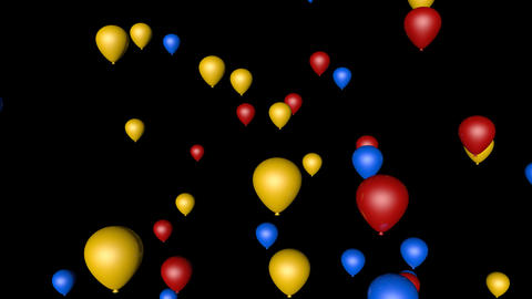 colorful balloon party Stock Video Footage