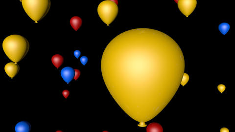 colorful balloon party Animation