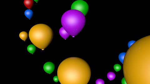 spinning balloon party Stock Video Footage