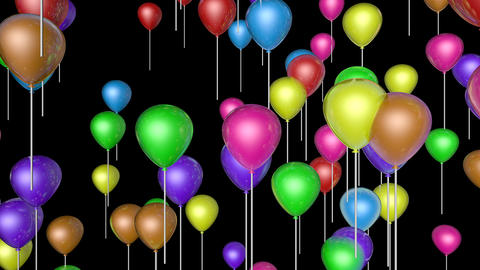 flying balloons upward Stock Video Footage
