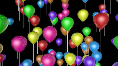 flying balloons upward Animation