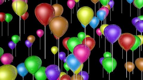 flying balloons upward Stock Video Footage