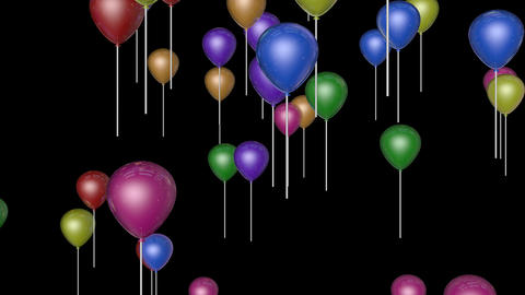 dancing balloon parties Stock Video Footage