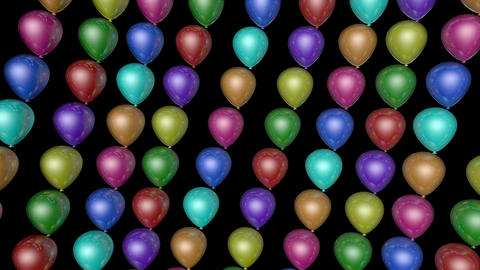 colorful balloon array Stock Video Footage