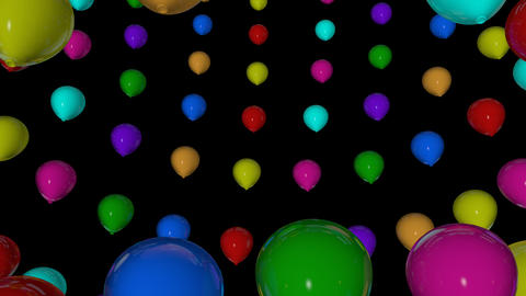 rotation colorful balloons Animation