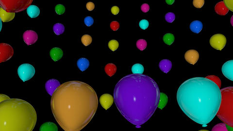 rotation colorful balloons Stock Video Footage