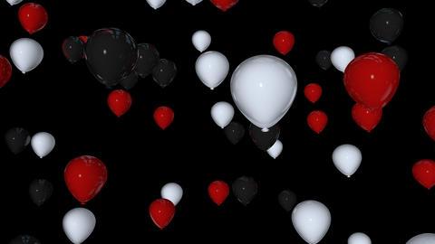 three colours balloon Stock Video Footage