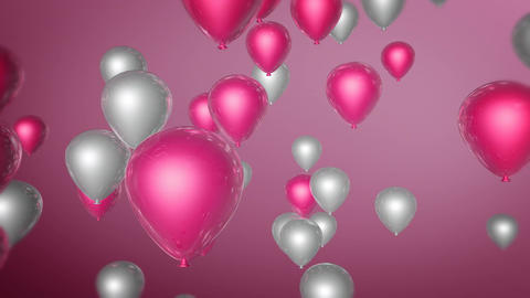 pink white balloon Animation
