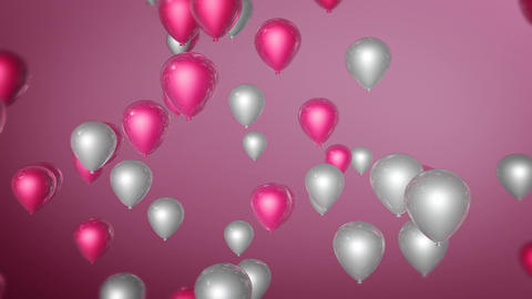 pink white balloon Stock Video Footage