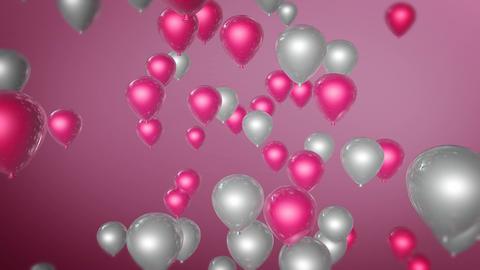 pink white balloon Stock Video Footage