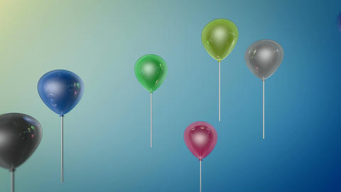 shiny color balloon Stock Video Footage