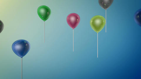 Shiny Color Balloon stock footage