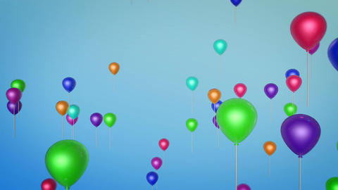 flying balloon party Stock Video Footage