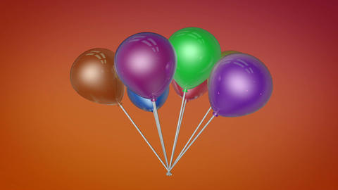 spinning balloons colorfull Animation