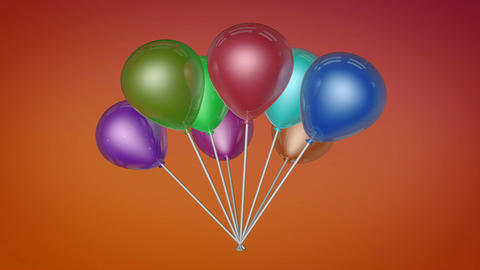 spinning balloons colorfull Stock Video Footage