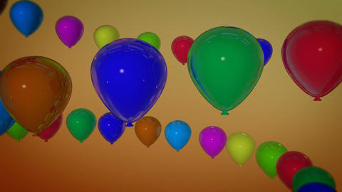 balloons spiral spinning Animation