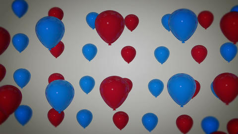 blue red balloon Stock Video Footage