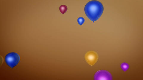 Balloon Fly Colorful stock footage
