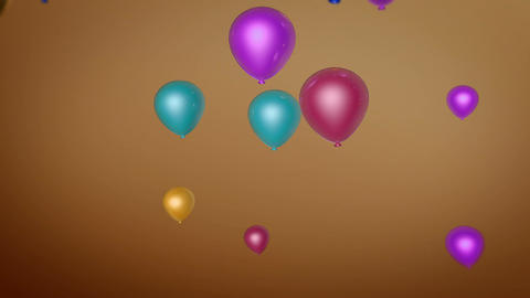balloon fly colorful Stock Video Footage