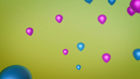 beautiful flying balloon Animation