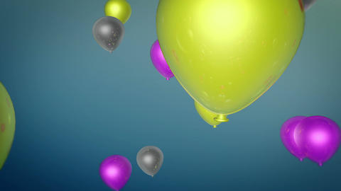 color balloons flying Animation
